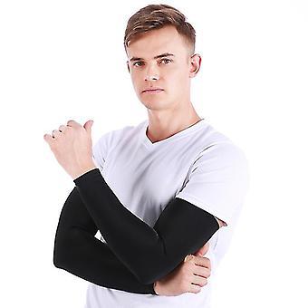 Copri braccio di raffreddamento uv protezione solare, adatto a uomini e donne (BLACK)