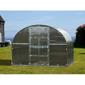 Drivhus polycarbonat TITAN Arch 320, 6m², 3x2m, Sølv