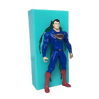 Superman af Fondant Cake Silikone Bagning Mold Diy Chokolade Mold