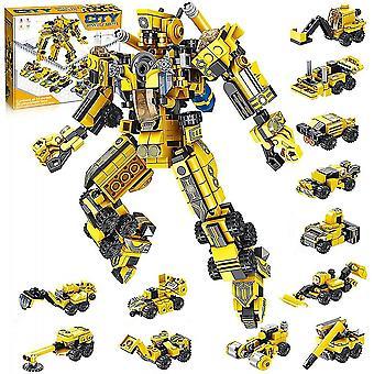 Byggelegetøj til børn 25-i-1 Engineering Transformers Robot