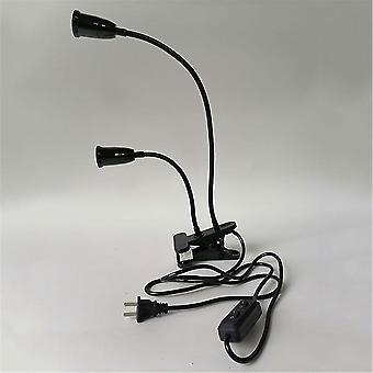 360 ???Flexible 2 Light Clamp Tabl Lamps Clip