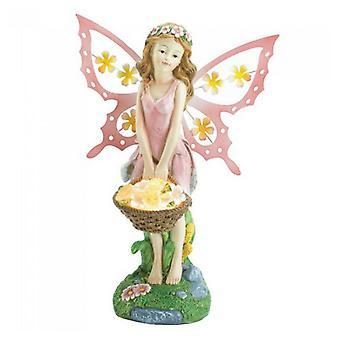 Summerfield Terrass Rosa Fairy Solar Garden Staty, Pack of 1