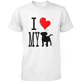 かわいいグラフィック ステートメント t シャツ - 私は私の犬ホワイト グラフィック t シャツが大好き
