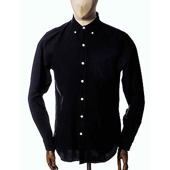 Colorful Standard Organic Button Down Shirt - Deep Black