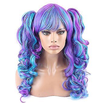 Lolita wigs split double ponytails curl wigs halloween gift