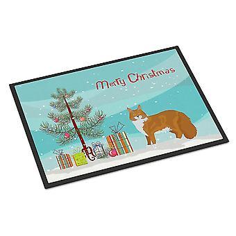 Door mats maine coon #1 cat merry christmas indoor or outdoor mat 18x27