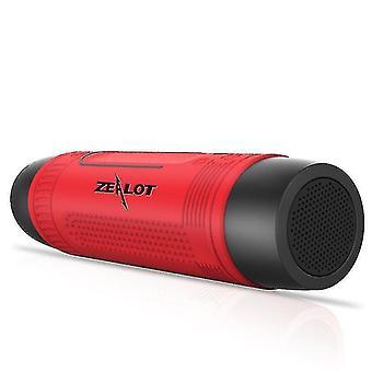 Tragbarer Bluetooth-Lautsprecher Drahtloser Fahrradlautsprecher + FM-Radio (Rot)