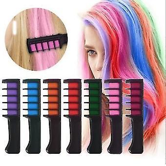 Disposable Hair Dyeing Comb Mini tool for Hair Dye(Orange)