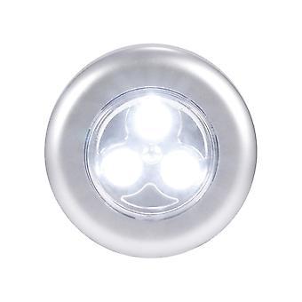 3 leds batteridrevet touch lys nattbord lampe