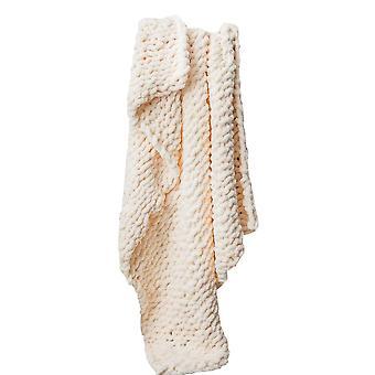 Swotgdoby Chenille بطانية اليدوية - دافئ لينة ديكور دافئ لأريكة السرير الرئيسية
