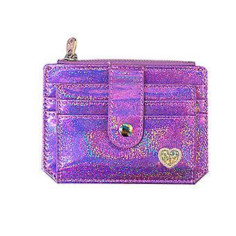 Holographic Wallet Id Money Credit Card Holder Pocket Case Business Driver's License Organizer For Women Girls