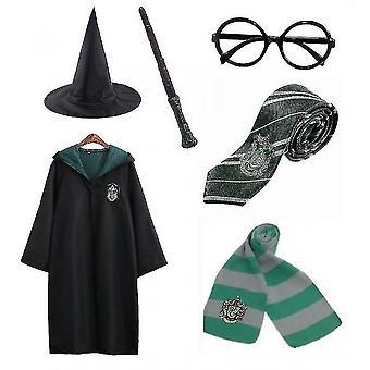 Halloween Harry Potter 6pc Set Wizard Cosplay Fancy Dress Cape Costume