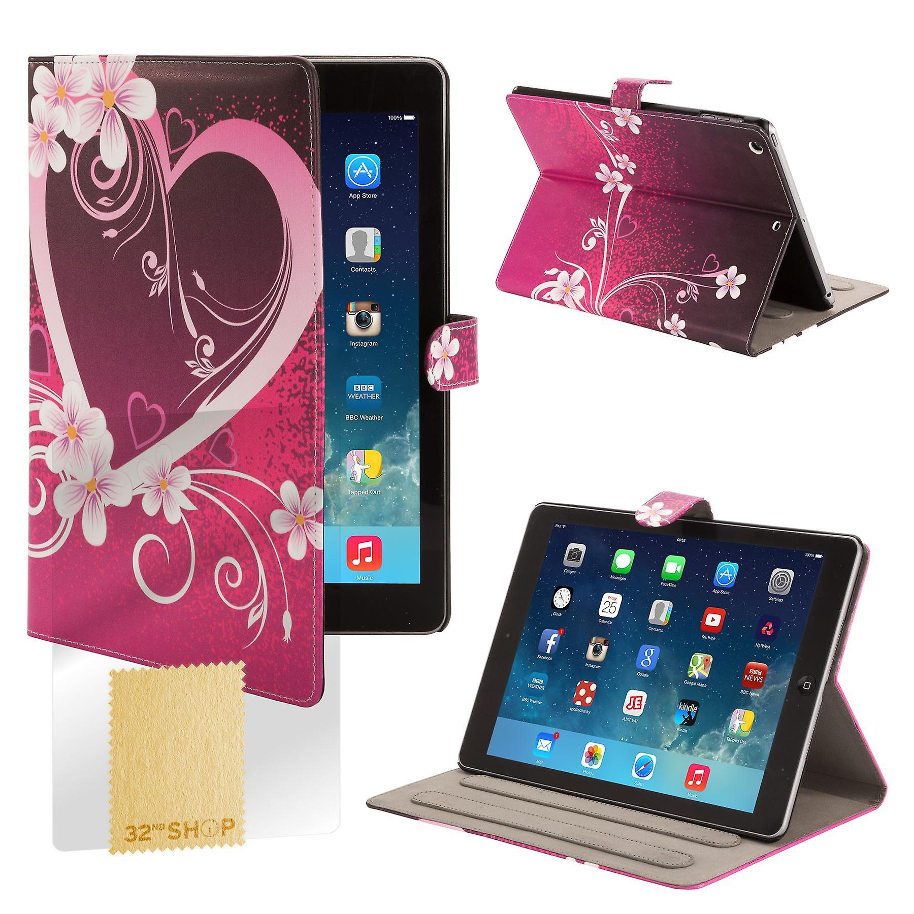 Design Book Angle Stand Folio Case for Apple iPad Mini 4 (4th Gen) - Love Heart