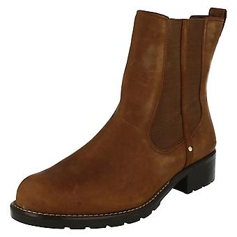 Ladies Clarks Chelsea Pull On Boots Orinoco Club