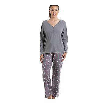 Camille eri värillinen puuvilla tähti tulosta täyspitkä Pyjama setti