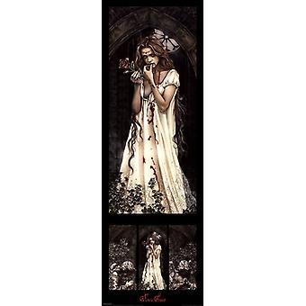 Rose affisch affisch Skriv av Victoria Frances