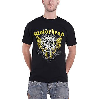 Motorhead T Shirt Warpig Wings band logo Official Mens Black