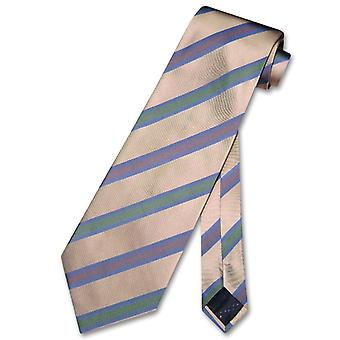 100% SILK NeckTie Stripes Design Men's Neck Tie