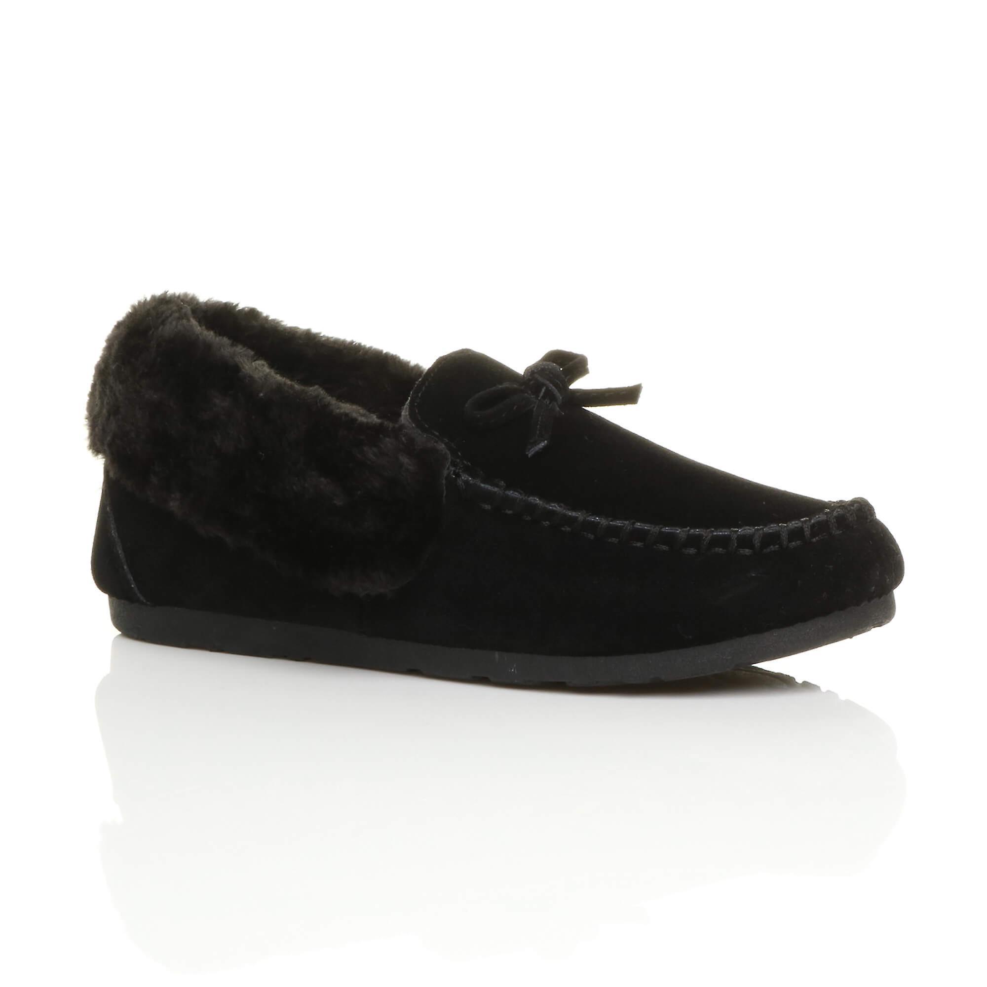 Ajvani damskie faux kożuch futro luksus elastyczna podeszwa zima mokasyny kapcie buty Ha6ka