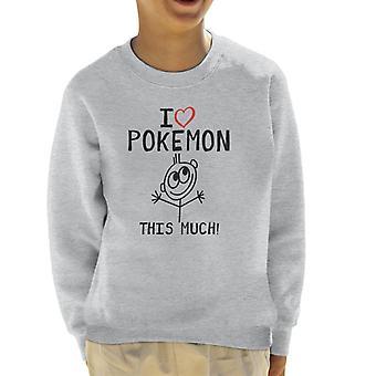 I Heart Pokemon tämä paljon lasten paita