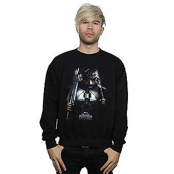Bewundern Sie Herren Black Panther Killmonger Poster Sweatshirt