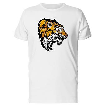 Tête de tigre mascotte Old School Tee homme-Image de Shutterstock