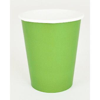"""Lime grön pappersmuggar 9 """""""