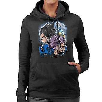 Father And Son Vegeta Trunks Dragon Ball Z Women's Hooded Sweatshirt