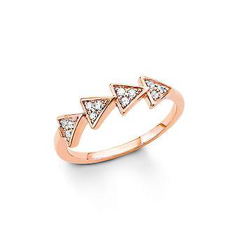 anello di s. Oliver gioiello signore argento zirconi oro Rosé SO1327
