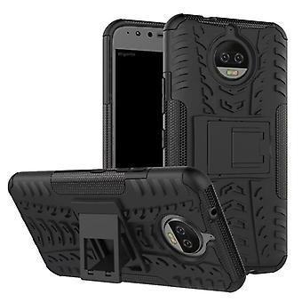 Hybrid Case 2teilig Outdoor Schwarz für Motorola Moto G5S Tasche Hülle Cover