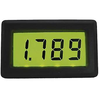 Beckmann & Egle EX3068 Digital panel meter LCD 199.9 mV illuminated panel meterAssembly dimensions 46 x 26.5 mm