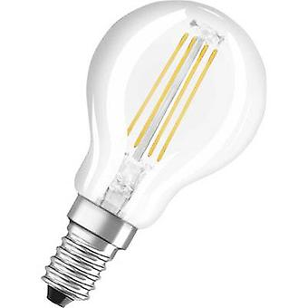 LED OSRAM (monocromático) EEC A++ (A++ - E) E14 Droplet 4 W = 40 W Branco quente (Ø x L) 45 mm x 78 mm Filamento 1 pc(s)