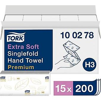 TORK 100278 Zickzack Premium Paper towels (L x W) 23 cm x 22.6 cm Bright white 15 x 200 sheets/pack 3000 pc(s)