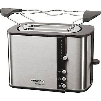 Grundig TA 5260 Black Line Toaster with home baking attachment Stainless steel, Black
