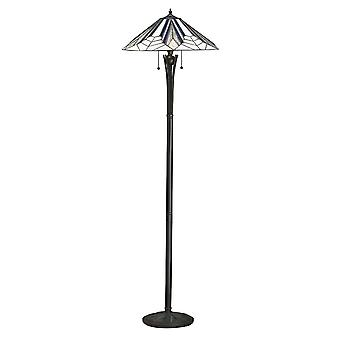 Interioare 1900 Astoria 2 Light Tiffany etaj LAMP Wi
