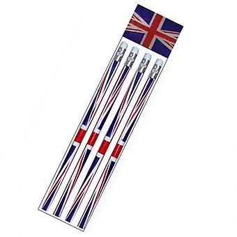 Union Jack Wear Pack Of 4 Union Jack Pencils