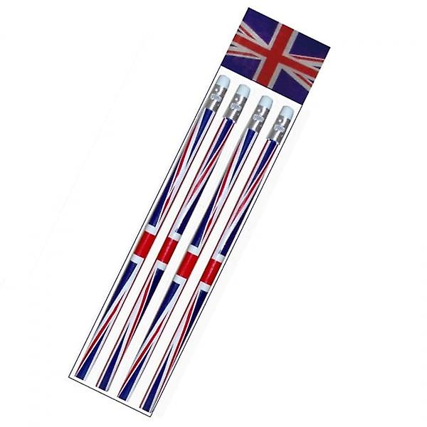 Union Jack Wear Pack Of 4 Union Jack Pencils