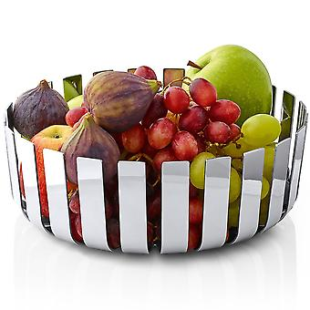 Bowl fruit bowl stainless steel polished