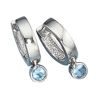 Brincos brincos de argola azul JEREMY da prata esterlina 925 brincos de cristais