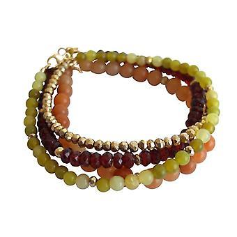 Pulseira conjunto 4 braceletes pedras preciosas pulseira pulseira conjunto Granada jade verde aventurina pirita