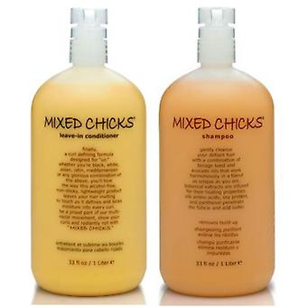 Mixed Chicks Leave In 975 ml Shampoo + 975 ml Conditioner (Combo Deal)