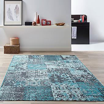 Återuppliva mattor Re07 i blått