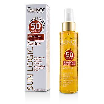 Guinot Sun Logic Age Sun Anti-ageing Sun Dry Oil For Body Spf 50 - 150ml/5.07oz