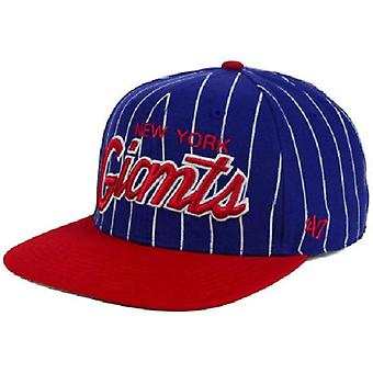 New York Giants NFL 47 Brand Pinstripe Adjustable Hat