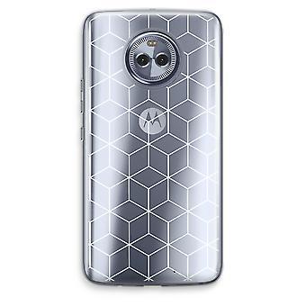 Motorola Moto X4 boîtier Transparent (doux) - Cubes noir et blanc
