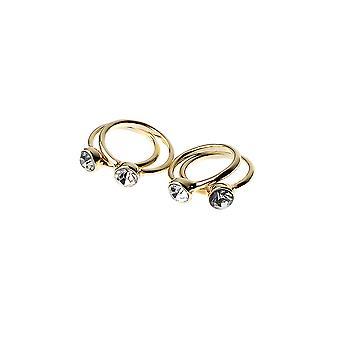 Uppsättning 4 Diamante dekorerade ringar