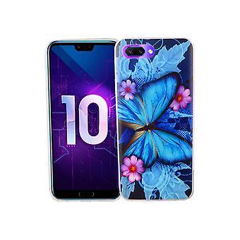 Huawei honor 10 telefone celular caso tampa protetora da caixa para-choques borboleta azul