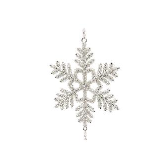 (CGB) Giftware kerst Triple Crystal Snowflake opknoping decoratie