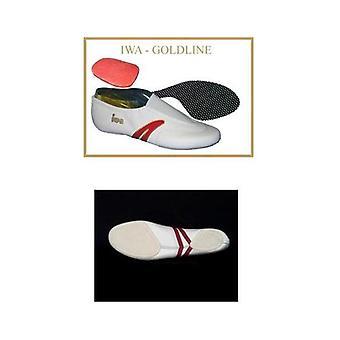 Zapatos de gimnasia / zapatillas de deporte arte gimnasio zapatos línea oro, blanco (tamaño 31-46)