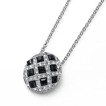 Oliver Weber Pendant Puzzle Rhodium, Cry/Jet